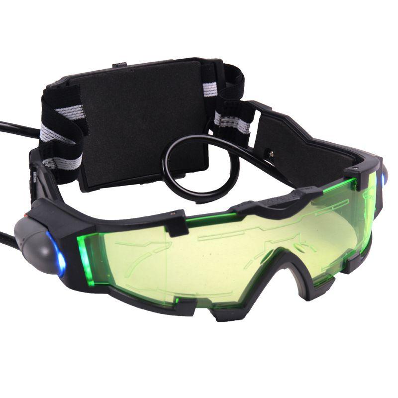 Juguete 18 cm Regalo de Halloween Niños Banda Elástica Ajustable Night Vision Goggles Gafas para Las Actividades Nocturnas Pistola de Agua de Protección