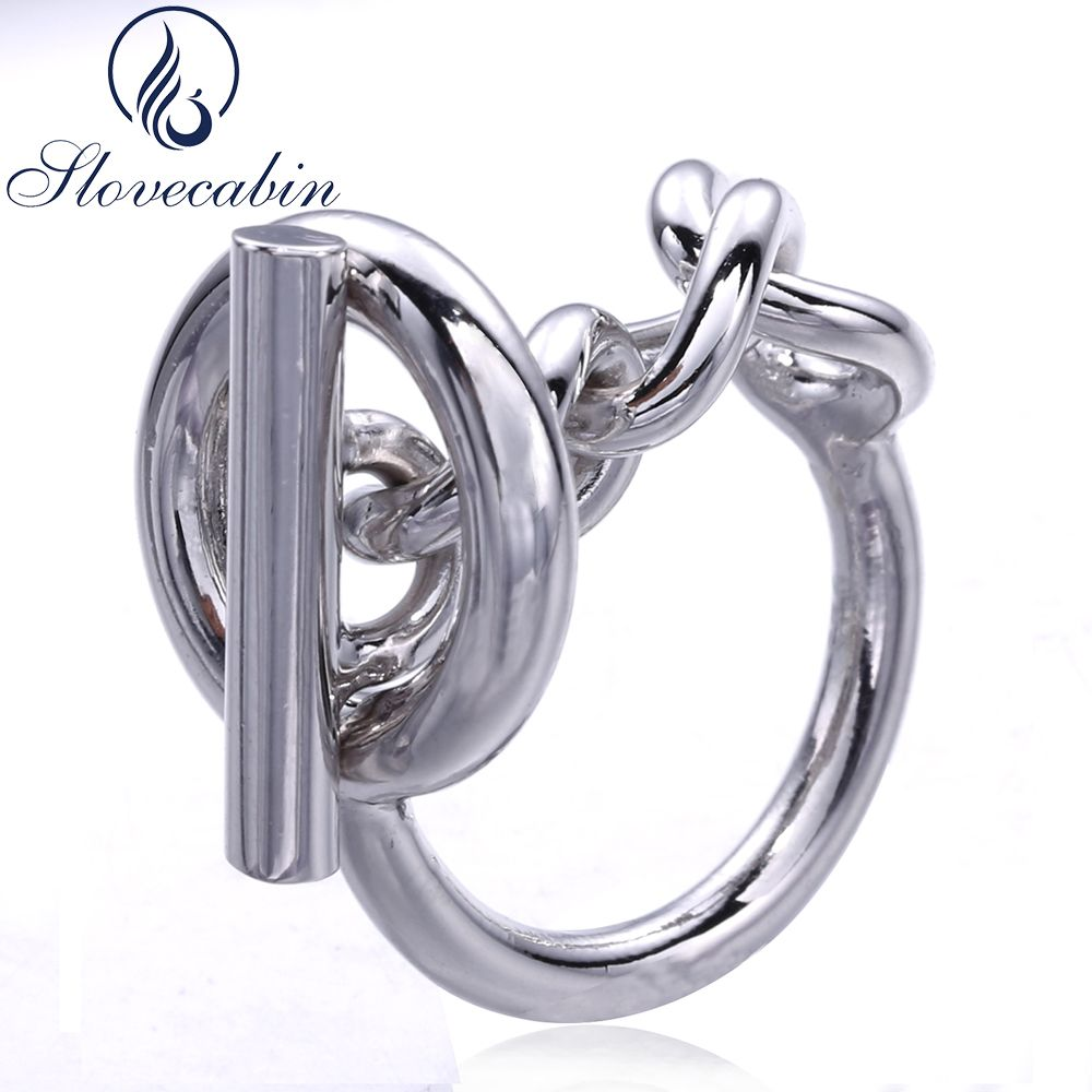 Slovecabin Vintage Men Jewelry Authentic 925 Sterling Silver Lock <font><b>Wedding</b></font> Rings bague Femme Marage Argent Rings For Women