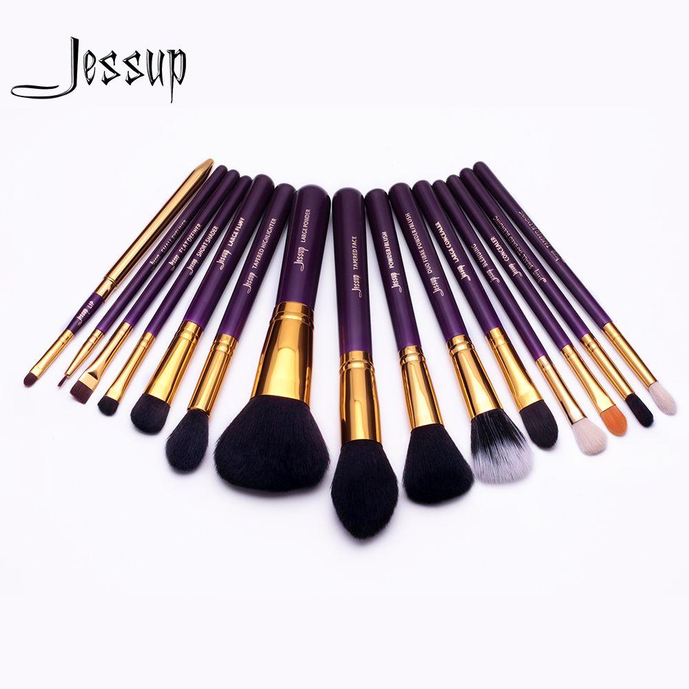 Jessup brushes for makeup 15pcs Makeup Brushes Set Powder Foundation Eyeshadow Concealer Eyeliner Lip Brush Tool T095