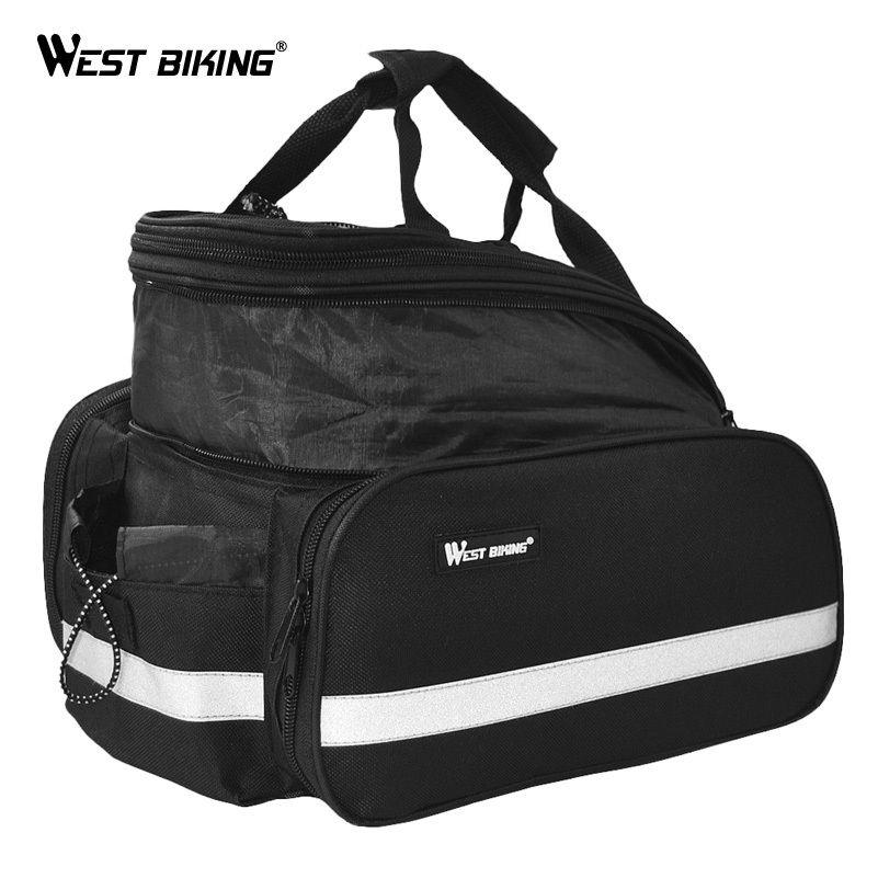 WEST BIKING Cycling  Saddle Bag Waterproof Bicycle Accessories Rear RainCover Bag Volume 10-25L Riding Bicycle Bike Cycling Bag