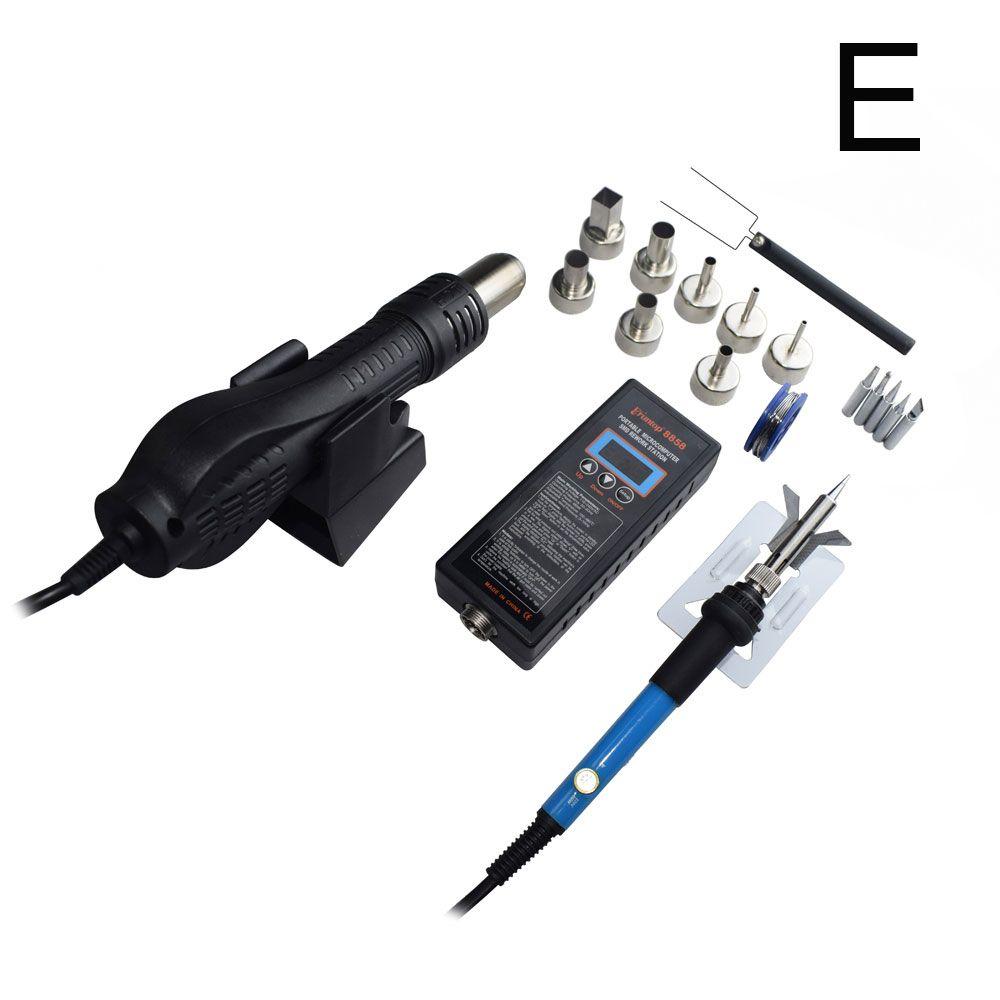 Haute qualité 110 V/220 V Portable BGA SMD Station de soudure bricolage Air chaud souffleur pistolet à chaleur Eruntop 8858