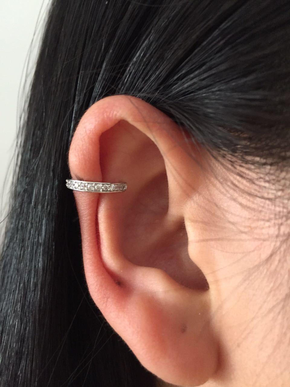 Brinco Oreille Manchette D'oreille Clip Boucles D'oreilles Zircone Bijoux Dans Un oreille Pour Femmes Mode Earing Bijoux Oreille Droite Seule Dame accessoires
