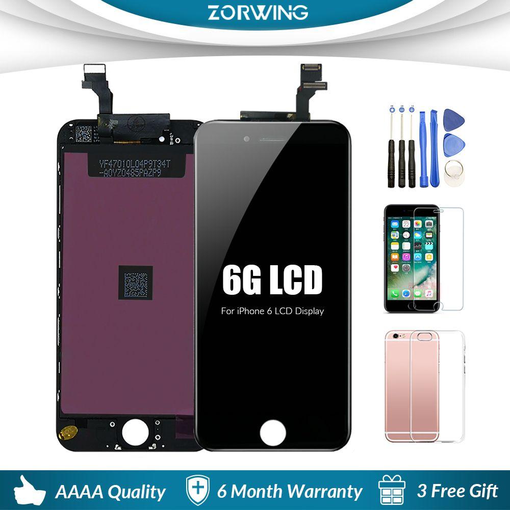 Grade AAA LCD Pour iphone 6 Affichage Écran Tactile Digitizer Remplacement Assemblée Complet pour iphone 6 Écran lcd Avec Des Outils Kit