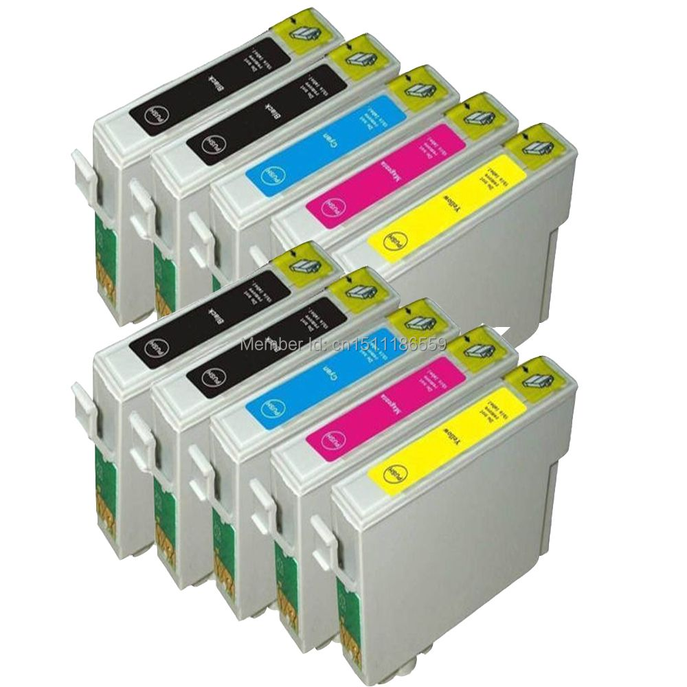 10 Compatible T0711 -714 Ink cartridges for Epson DX7400 DX7450 DX8400 DX8450 DX9400F SX215 B1100 BX300F BX310FN BX600FW BX610FW