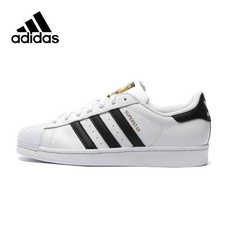 Original New Arrival Official Adidas Men's and Women's Superstar Classics Unisex <font><b>Skateboarding</b></font> Shoes Sneakers