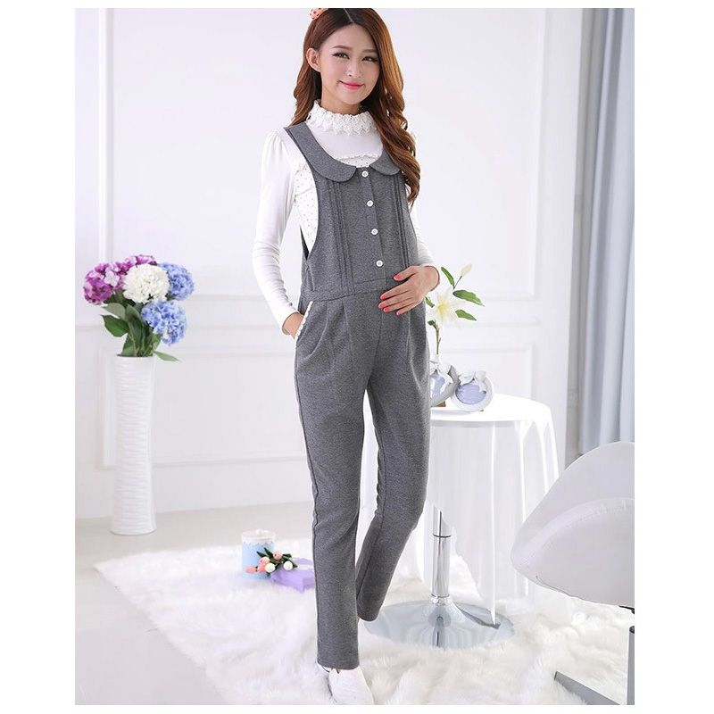 Happy for Mom Spring&Autumn Maternity Overalls Belly Pants Waist Adjustable Suspender Trousers For Pregnant Women