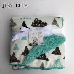 Apenas lindo nuevo bebé mantas espesar doble capa de lana de coral bebé swaddle bebe sobre recién nacido bebé manta de cama