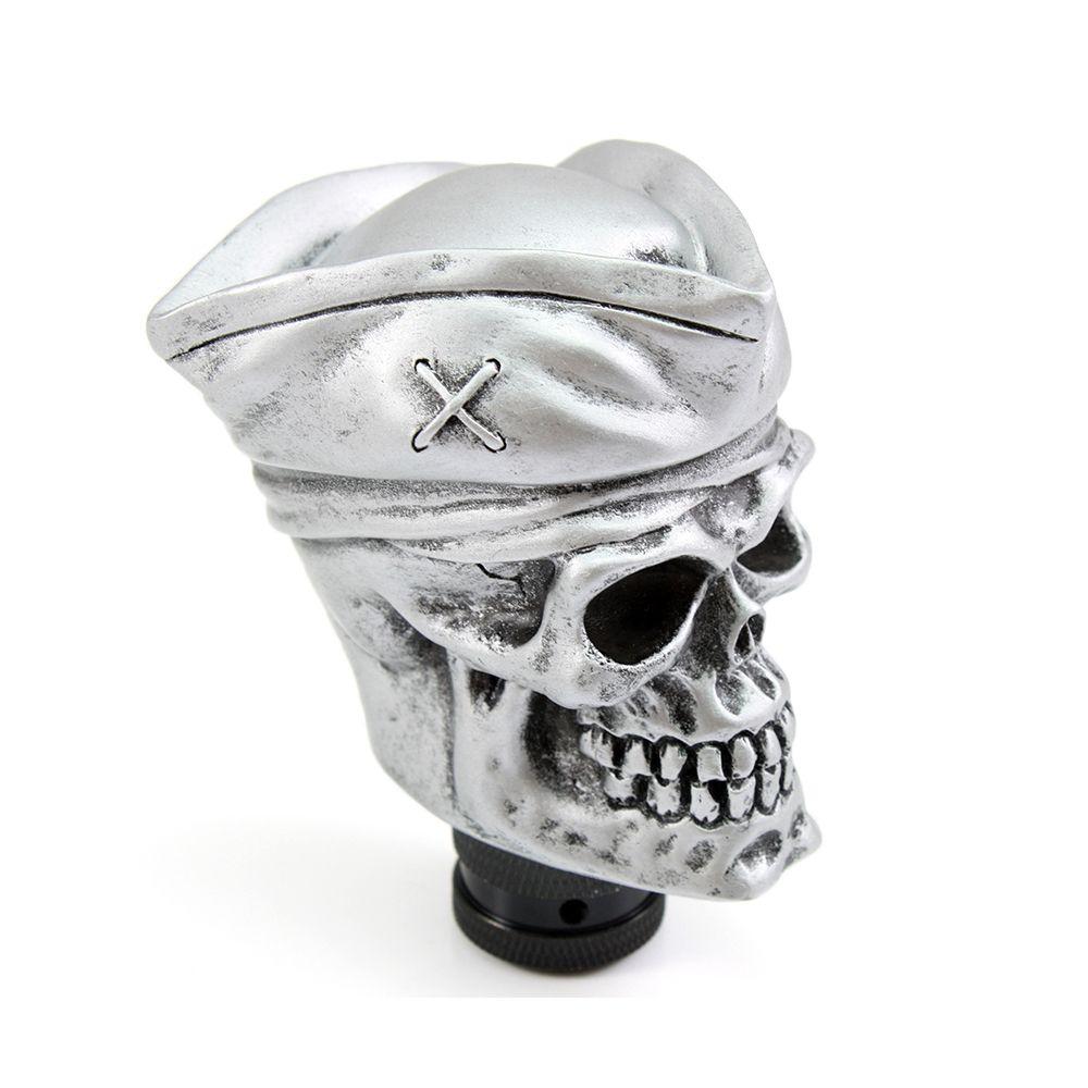 Neverland Руководство Универсальная автомобильная Рычаги передач для автомобиля переключения рычага резные Пираты Череп шляпа серебро