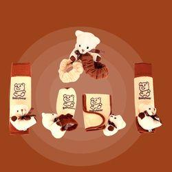Mobil spion cermin dekoratif set gigi set sabuk pengaman set kartun beruang kualitas bahan mewah