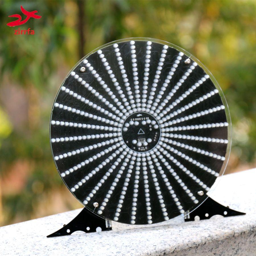 Zirrfa nouveau!!! Lumière de danse cubeed, avec boîtier acrylique led kit de bricolage électronique