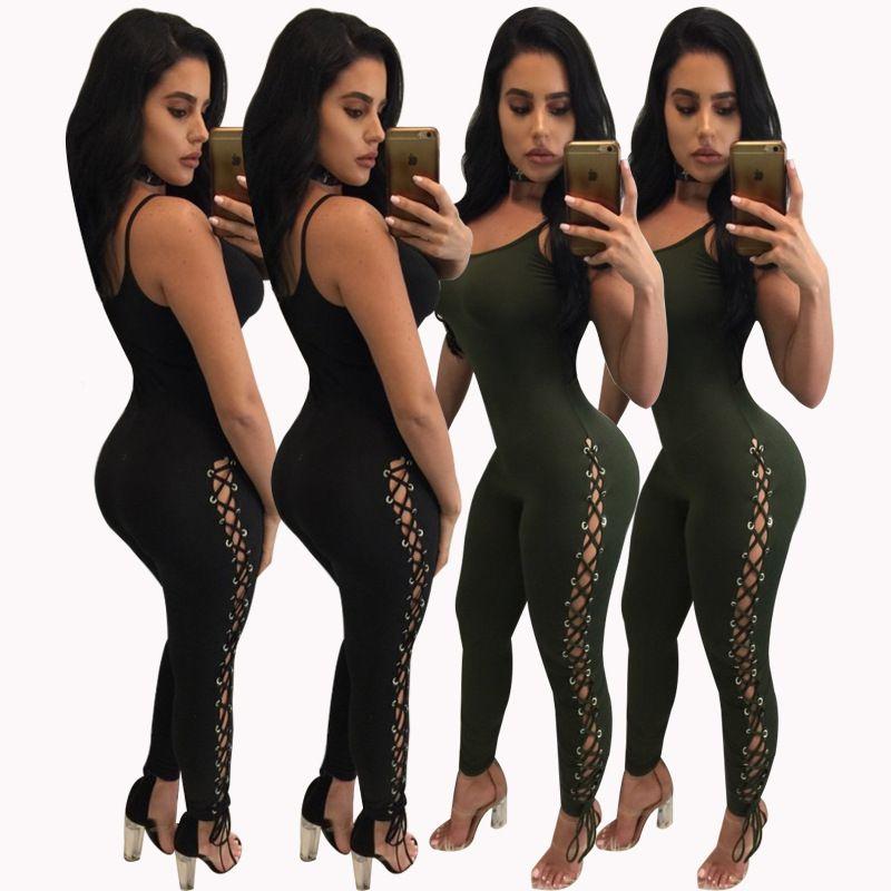 Women Bodysuit Rave Clothes Body Sexy Coveralls Bandage Jumpsuit Leotards Romper Kombinezon Damski Combinaison Barboteuse Femme