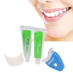 Beurha Blanc LED Lumière Blanchiment Des Dents Dentifrice Gel Kit LED Traitement de Blanchiment Des Dents Gel Blanchissant