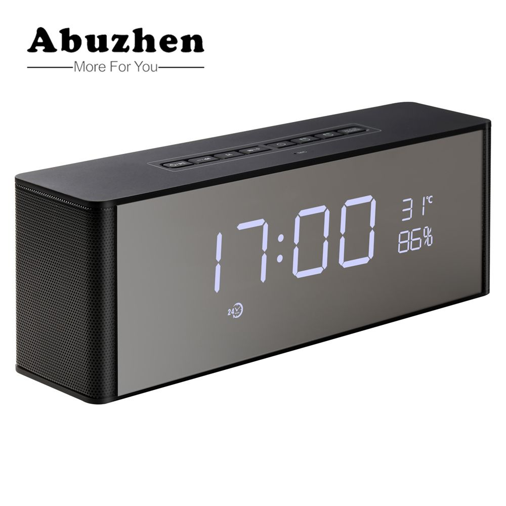 Abuzhen Enceinte Speaker Bluetooth Speaker Portable Wireless Stereo Altavoz Bluetooth for Phone Xiaomi with TF FM Alarm Clocksom