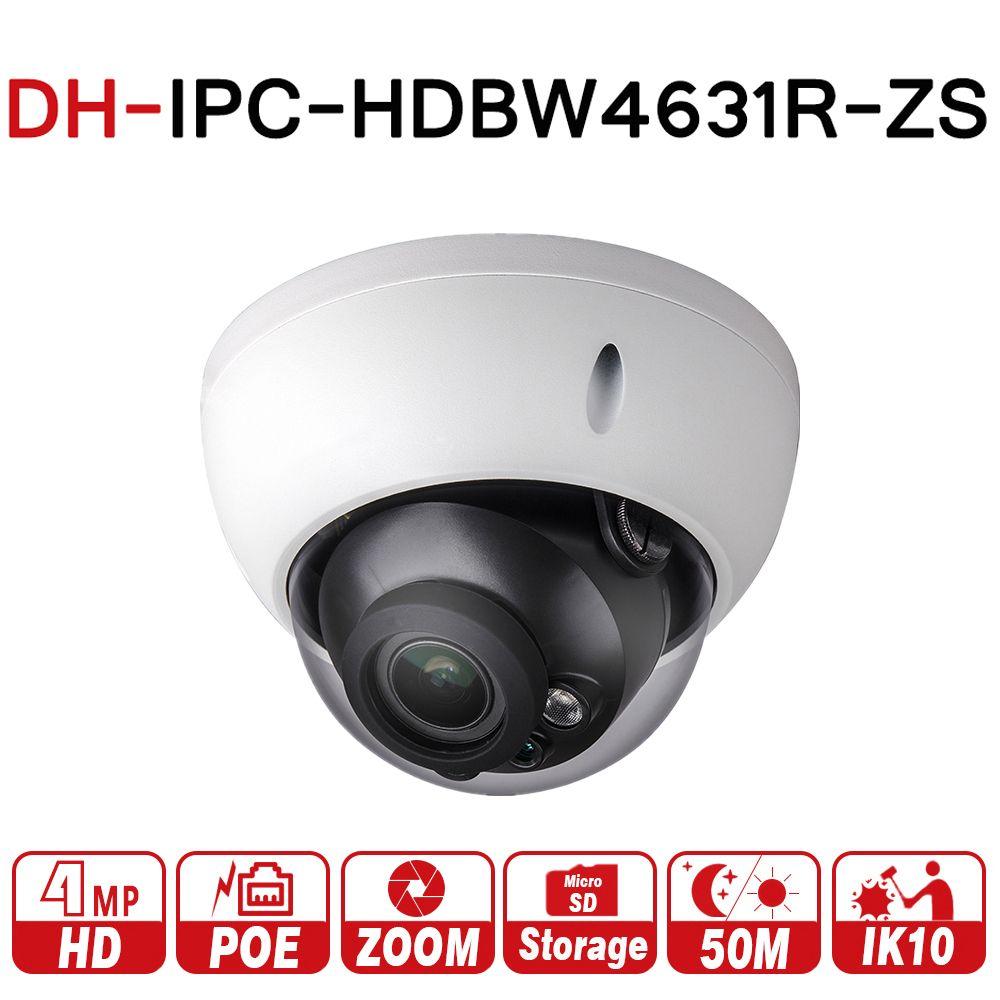 DH IPC-HDBW4631R-ZS 6MP IP Camera CCTV POE Motorized Focus Zoom 50M IR SD card slot Network Camera H.265 IK10 with logo
