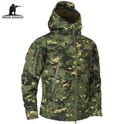 Mege brand ropa hombres otoño Militar camuflaje chaqueta de lana ropa táctica ejército MultiCam camuflaje masculino cortavientos