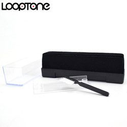 LoopTone LP/CD Velvet Brush Stylus Cleaner Vinyl Record Cleaning Brush Accessories for Turntable Players Black