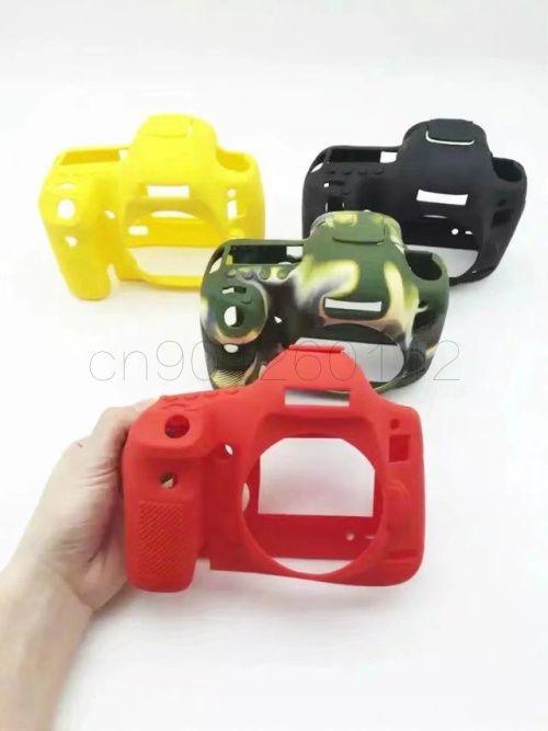 Caoutchouc de Silicone souple Caméra sac Étui De protection Pour Canon 100D 200D 6D 6D2 5D3 5D4 80D 650D 700D 800D 1300D 1500D 750D Sac
