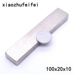 1 x Big Vrac Super Strong Bloc Magnets Rare Earth Néodyme 100x20x10mm N52 100*20*10mm 100x20x10mm