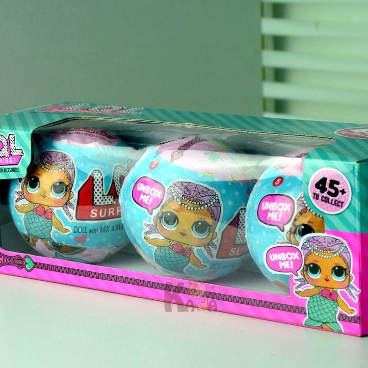 3 шт. смешно съемные яйцо мяч игрушки куклы LOL Куклы Детские разорвать Цвет изменить фигурку Игрушечные лошадки Рождество подарок