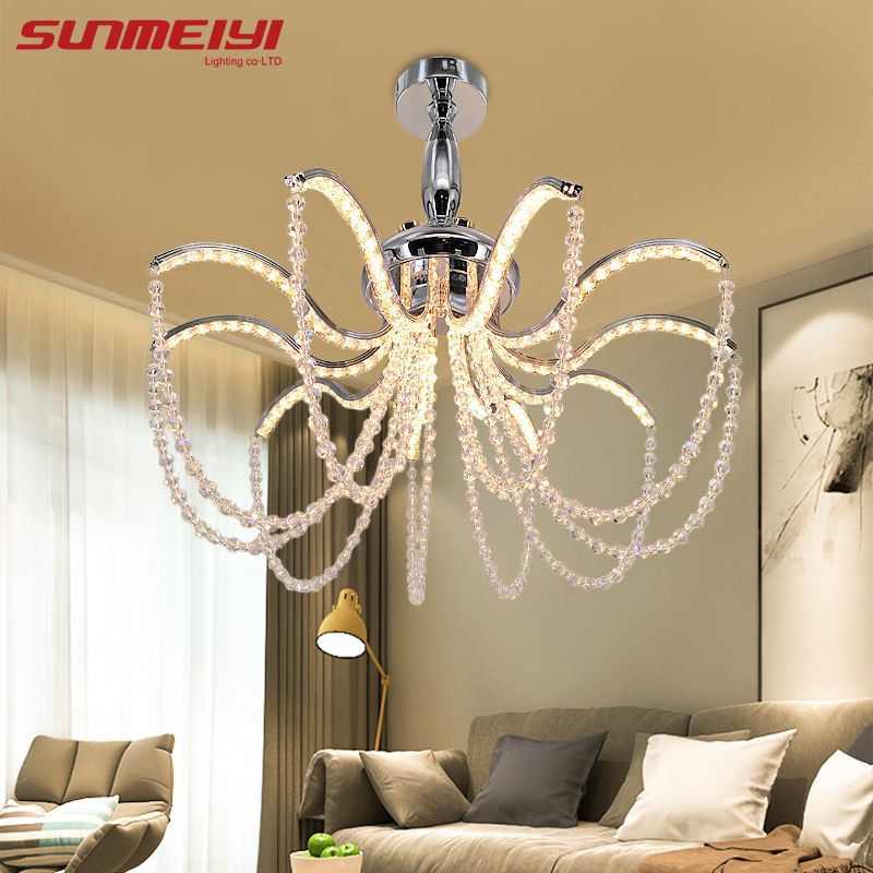 Modern LED Crystal Aluminum Chandelier Indoor Lights lustre cristal Ceiling Chandelier Lighting For Living Room Bedroom Hotel
