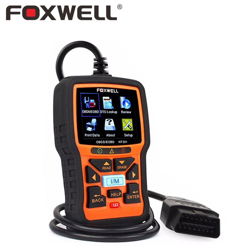 FOXWELL NT301 OBD 2 Automotive Scanner Car Engine Analyzer Error Code <font><b>Reader</b></font> Scanner OBD2 EOBD OBDII Auto Diagnostic Tool Scaner