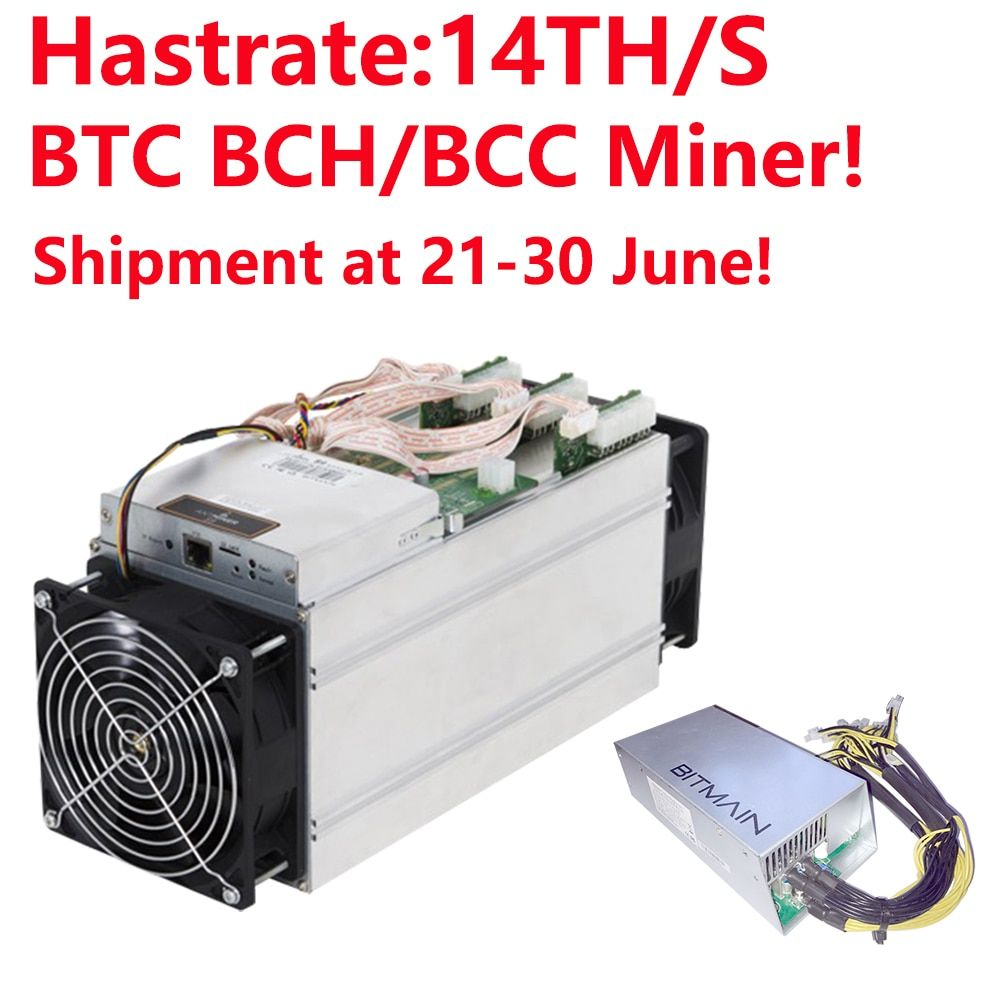 Shipment at 21-30 June! BTC BCH/BCC Miner!! Bitmain Antminer S9i-14.0 Bitcoin Miner 14TH/S Asic Miner 16nm Btc Miner with APW3++
