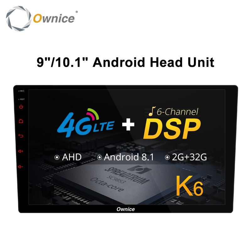 Ownice K6 Octa core 2 Universal Kopf uint Android 8.1 Auto Radio Stereo GPS Navi Multimedia Player DSP Unterstützung 4G LTE AHD Kamera