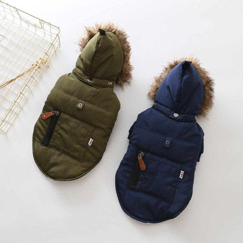Winter Pet Dog Overalls Clothes Super Warm Down Jacket for Small Medium Dogs Puppy Coat Hoodies Costume Chihuahua Yorkie Clothes