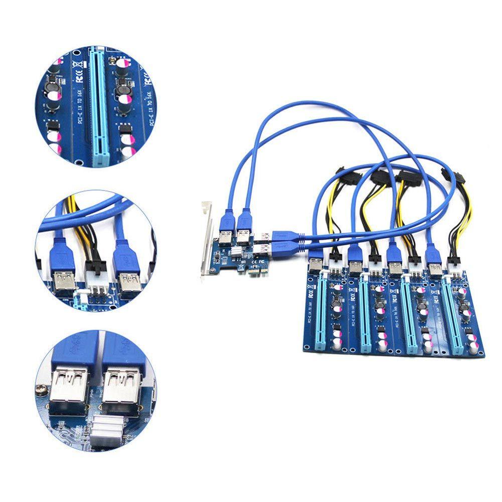 1 компл. pci-e 1x до 4 PCIe 16x слотов стояка внешний адаптер pci-e Порты и разъёмы кабелей карты доска em88