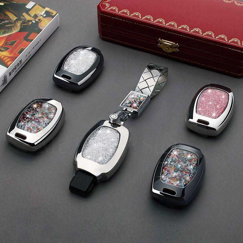 Schlüssel Fall Abdeckung Kristall Diamant keychain Für Mercedes-Benz EINE AMG C180 CLK E260L CLA CLS R S320 SLK s400 GLK GLA 3 taste schlüssel cove