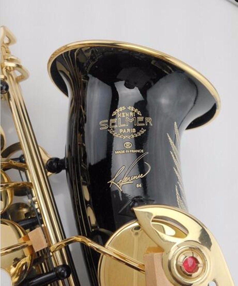 Hot sale saxophone black Alto brass engraving SELMER SAS-R54 mode black gold Sax musical instruments professional saxophone