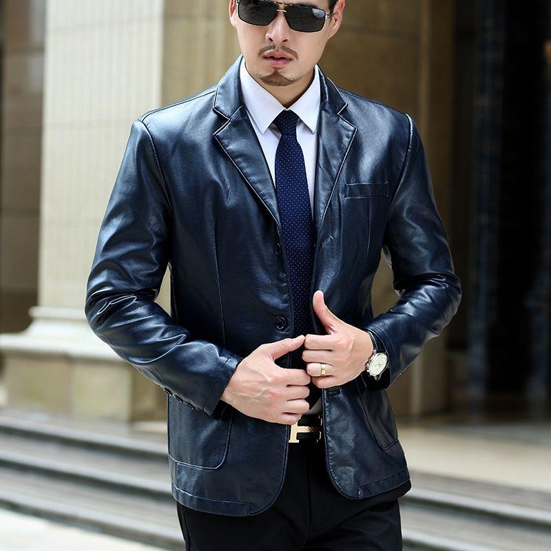 7 xL abrigos de los hombres, de los hombres el aumento del tamaño de la capa, chaqueta de cuero, recreacional negocio capa de desgaste de los hombres, envío libre
