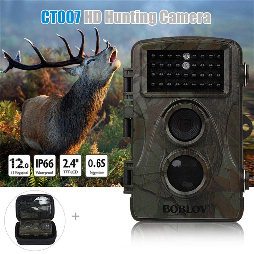 BOBLOV CT007 1080P HD 12MP 940nm Wildlife Hunting Scouting Trail Camera Game IR LED Night Vision PIR Motion Detect With Free Bag