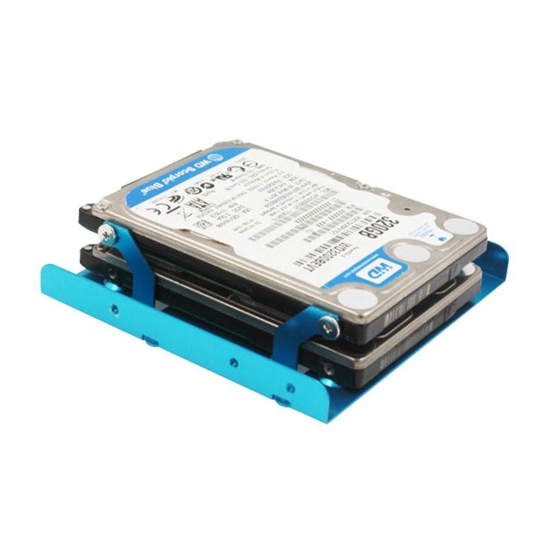 Esloth K106 Металла Тепловыделение SSD Адаптеры Двойной Диск Полный алюминий 2.5 Диск 3.5 дюймов SSD Жесткого Диска Для Настольных Пк кронштейн
