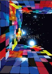 HD-033 красочная Алмазная квадратная 3D Натяжная потолочная пленка для украшения потолка