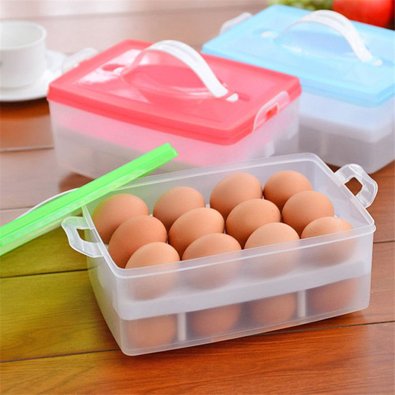 Cuisine oeuf boîte de rangement organisateur réfrigérateur stockage oeuf 24 oeufs organisateur extérieur Portable conteneur stockage oeuf Orgainzer