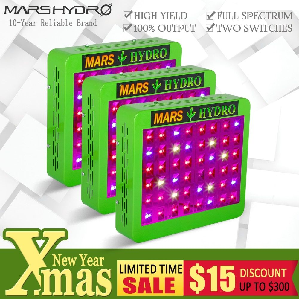 3PCS Mars Hydro Reflector240W LED grow light full spectrum Hydroponics Lamp veg bloom for Greenhouse