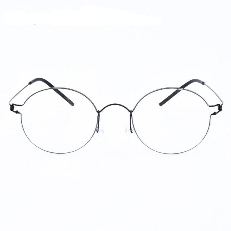 Creative round-framed glasses innovative screwless eyewear brand ultralight myopia lenses Oculos de grau with original case