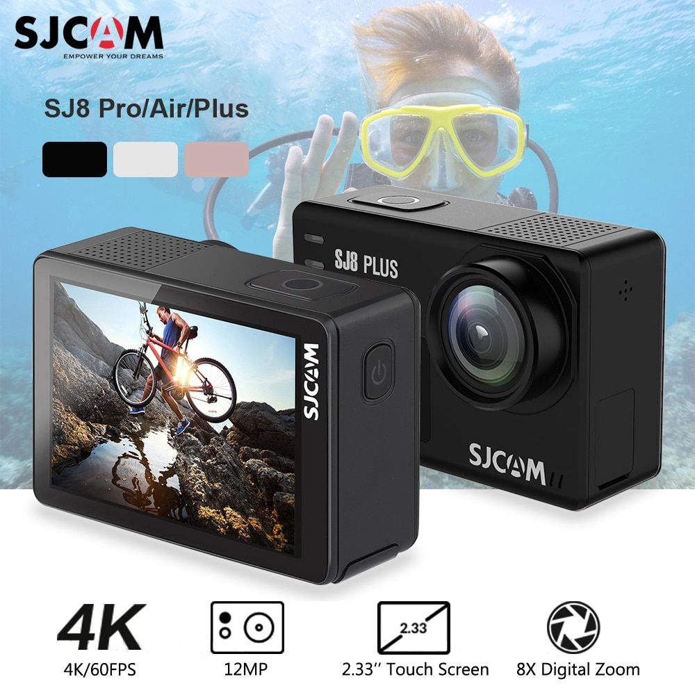 Original SJCAM SJ8 Pro/SJ8 Plus/SJ8 Action Camera WiFi 4K 1200mAh HD DVR Camcorder Remote Control GO Waterproof pro Sports Cam