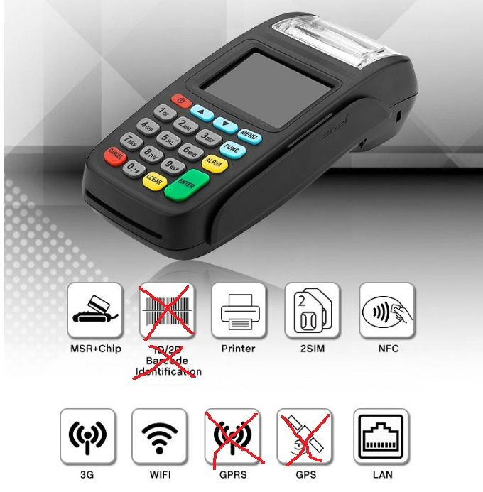 3G Version POS Terminal,Wireless Payment Terminal with NFC Reader and LAN and WIFI NEW8210