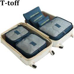 6 шт./компл. мода двойная молния водостойкий полиэстер обувь для мужчин и женщин чемодан дорожные сумки Упаковка кубики