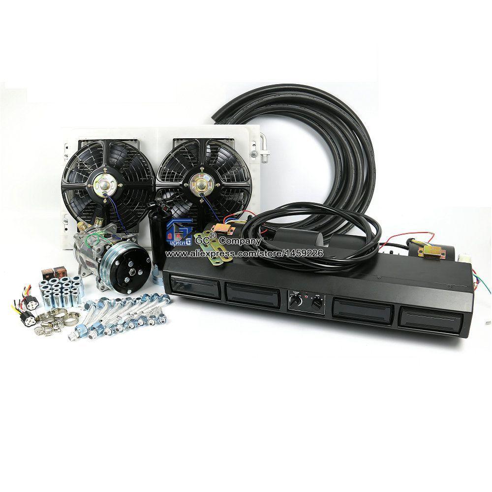 Universal Underdash A/C Klimaanlage Verdampfer Montage Kit für Schwere Lkw Bus Anhänger RV Freizeit Fahrzeug Teile