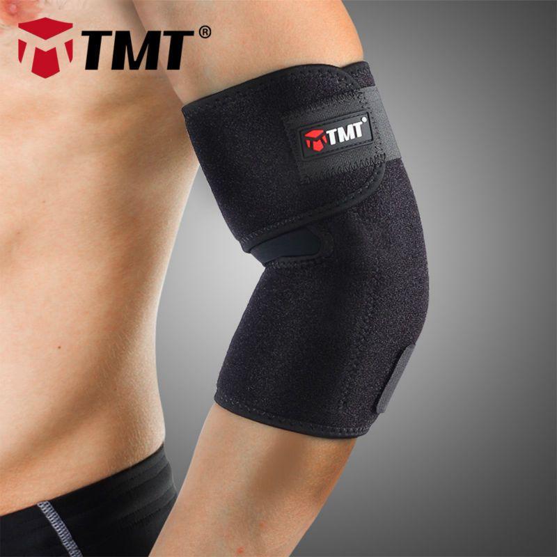 TMT Moyen coton et Lycra & OK tissu Absorber La Sueur Élastique Coude brace Manches protecteur de soutien douleur au coude de Sport De Tennis basket-ball