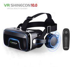 Лидер продаж! 2019 г. Google Cardboard VR shinecon Pro версия виртуальной реальности 3D очки + Smart Bluetooth беспроводной пульт дистанционного управления геймпад