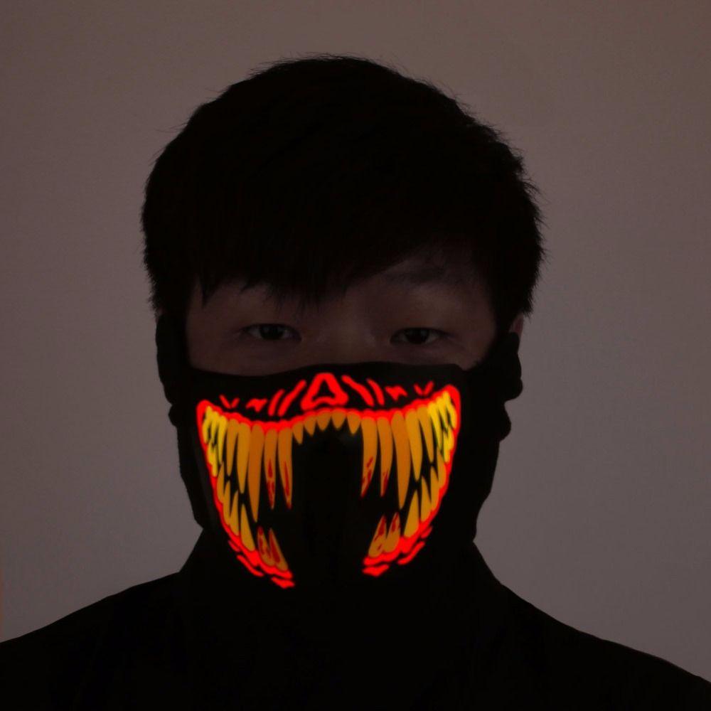 Хэллоуин LED маска светящиеся череп маска маске маска horreur Хэллоуин украшения рукоделия Хэллоуин маска без Батарея
