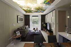T-1011 кокосовой пальмы ПВХ стрейч потолок фильм Функция как потолочная плитка новый тип ПВХ строительный материал