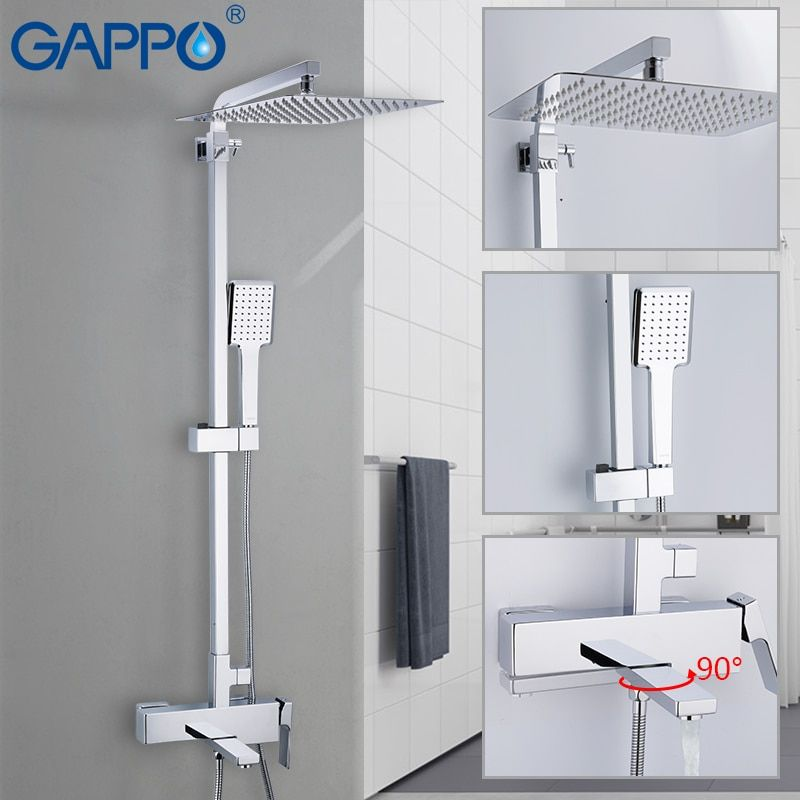 GAPPO shower faucets wall Mounted Brass bathroom faucet shower set Griferia bath shower set bathtub faucet waterfall shower