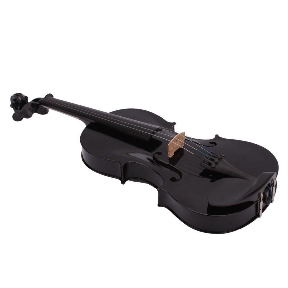 SEWS 4/4 Full Size Acoustic Violin Fiddle Black with Case Bow Rosin
