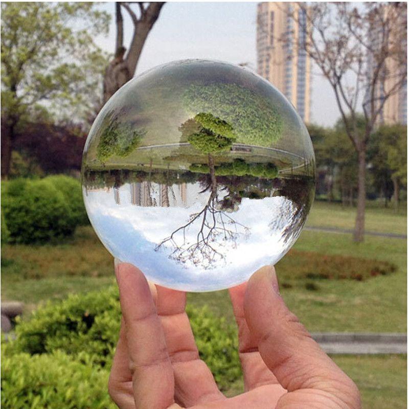 80mm Rare Clear Asian Quartz feng shui ball Crystal Ball Sphere Fashion Table Decor Good Luck Ball Free Shipping