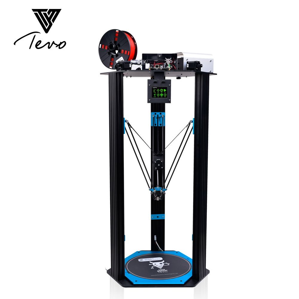 Newest TEVO Little Monster Delta 3D Printer TEVO Deltal Large bed Strong Extrusion/Smoothieware/MKS TFT28/Bltouch 3D Printer SD